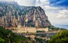 Santa Maria de Montserrat monastery. Monastery on mountain near Barcelona, in Catalonia